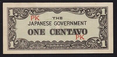 Japan Philippines Occupation WWII Banknote 1 Centavo 1942 P-102a