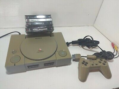 Sony PlayStation 1 console w/5 games bundle ps1 retro controller worms star wars