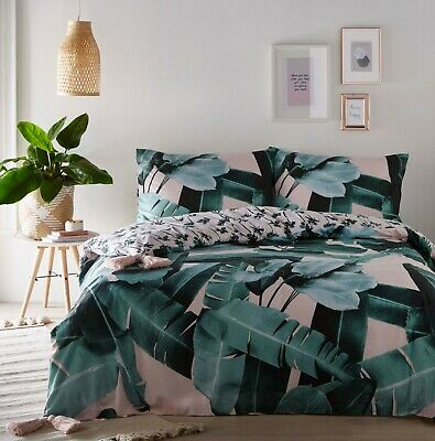 TROPICAL PALM MULTI Duvet Cover & Pillowcase Bed Set by S