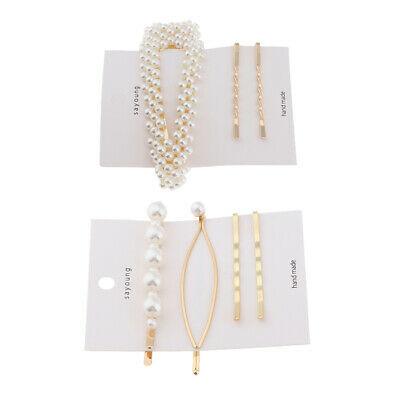 2 Sets Kids Women Pearl Hairpin Hair Clip Clamps Accessories Barrette