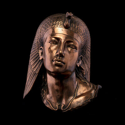 Head of Ptolemaic Egyptian Queen Cleopatra VII  Ancient, Copper carving, replica