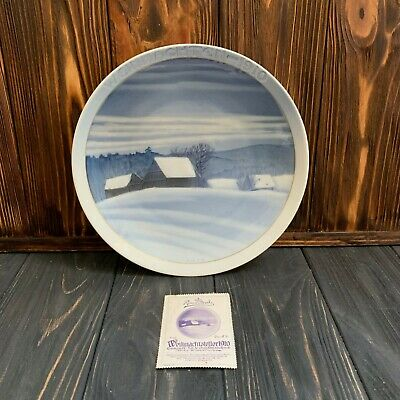 Rosenthal 1910 first edition Christmas Plate together with a unique post stamp