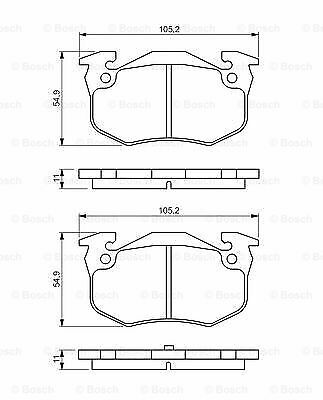 BOSCH Disc Brake Pads SET Front Rear Axle Fits FIAT Punto Seicento 1993