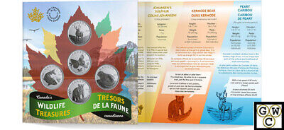 2019 'Canada's Wildlife Treasures' 5-Coin Set of 50-Cent Coins (18774)