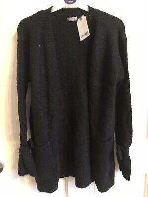 BNWT Next Cardigan. Girls. Black. Age 5 - 10 Years. Super Soft Touch. Fluffy