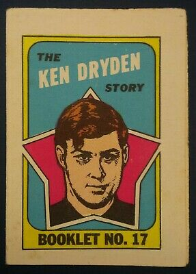 1971-72 OPC O-Pee-Chee Booklets #17 Ken Dryden Montreal Canadiens