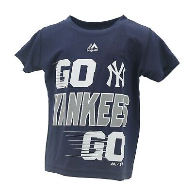 New York Yankees MLB Majestic Cool Base Infant Toddler Size Athletic T-Shirt New