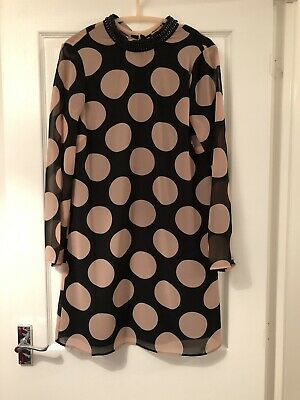 M&S Spotted 60'S Style Dress Size Uk 10