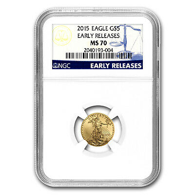 2015 1/10 oz Gold American Eagle MS-70 NGC (Early Releases) - SKU #86107