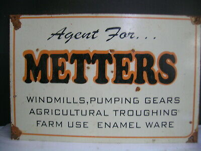Metters Farmware Agricultural Ware  Tin Sign Freepost Australia