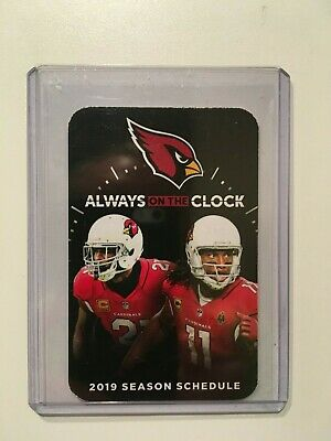 Nfl 2019 Arizona Cardinals Pocket Schedule #11 Larry Fitzgerald #21 Peterson-New