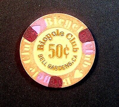 Bicycle Club Casino Chip From Bell Gardens California Free Shipping