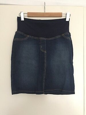 Gorgeous Comfy Pea in a pod womens Denim maternity skirt size 6 Excellent Cond.
