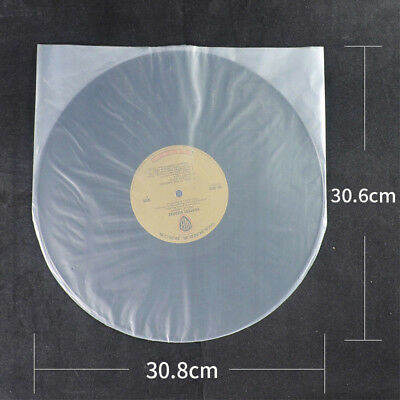 100X Antistatic Clear Plastic Cover Inner Sleeves For 12'' LP LD Vinyl Record