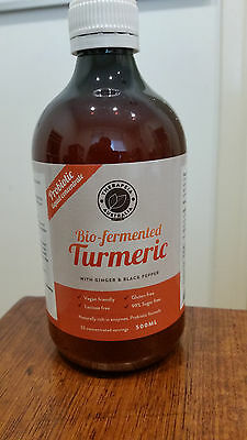 Probiotic Bio Fermented Turmeric with Ginger and Black Pepper..damaged label.