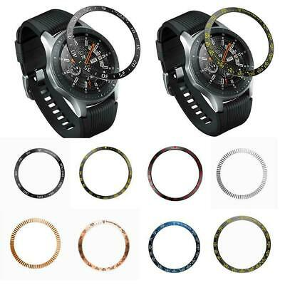 For Samsung Galaxy Watch 46MM Bezel Ring Adhesive Cover Anti Scratch Metal K0P7