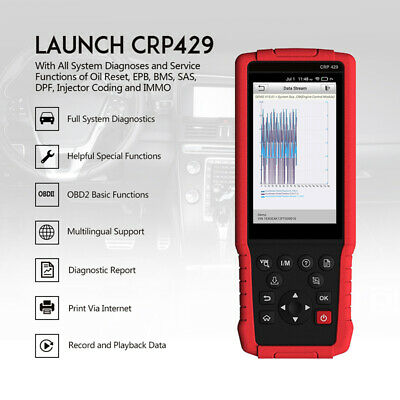 CA Stock Launch X431 CRP429 OBD2 Diagnostic Scanner WIFI Fault Code Reader IMMO