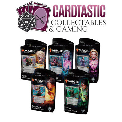 Magic the Gathering TCG Core Set 2019 Planeswalker Deck Set of 5 Sealed