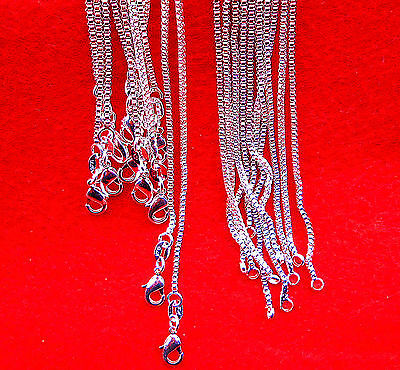 "28"" 10PCS Wholesale Fashion Jewelry 60% Silver  Box Chain Necklaces For Pendants"