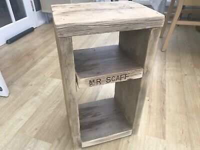 Small Bedside Table - Recycled, Upcycled, Shabby Chic, Rustic Scaffold Board
