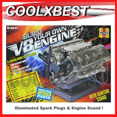 Haynes Built Your Own V8 Engine Model Kit Light & Sound Educational 250+ Parts