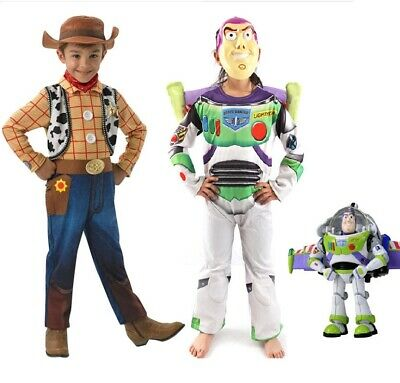 Kids Toy Story Buzz Lightyear Woody Deluxe Children Fancy Dress Costume cosplay