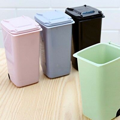 Mini Small Waste Bin Desktop Garbage Trash Can Recycled Tabletop Wastebasket Car Dustbin Home Office Room Mosulspace Org