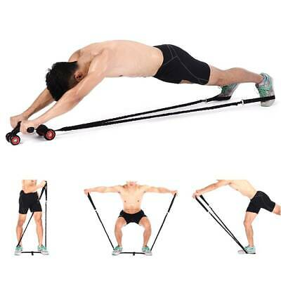 Abdominal Muscle Wheel Auxiliary Rope Pull Fitness Gym Ab Roller Resistance Band