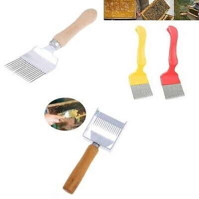 New Stainless Steel Bee Hive Uncapping Honey Fork Scraper Shovel Beekeeping T hx