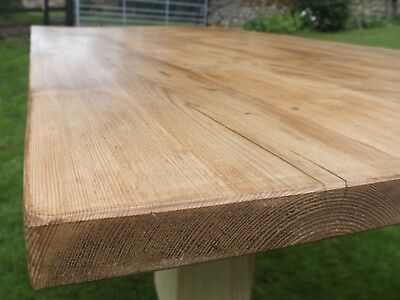 8 Ft Reclaimed Pine Kitchen Table - handmade by ourselves