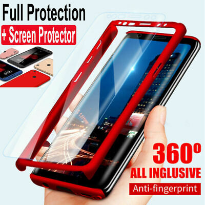 360° Full Case For Samsung Galaxy S8 S9 Plus S7 Edge Note 8 9 + Screen Protector