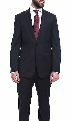 Mens 40R Calvin Klein Extreme Slim Fit Solid Charcoal Gray Two Button Wool Suit