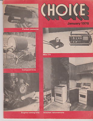 Choice magazine..1978..Pocket cameras 9 page article.