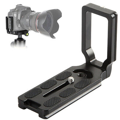 Durable Aluminum Alloy Quick Release L Plate Bracket Grip for DLSR Camera Tripod
