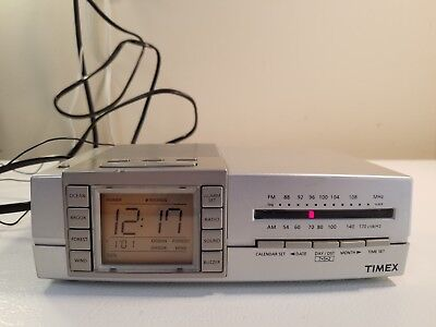 TIMEX TRIPLE ALARM Clock Radio w/ Nature Sounds Ocean Wind Brook Forest  T434S