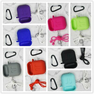 Silicone Earphone Case+Rope+Buckle Proof for Airpods Charging Box