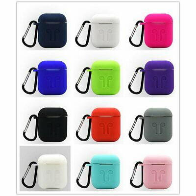 Silicone Earphone Case Protective for Airpod Charging Box with Hooks
