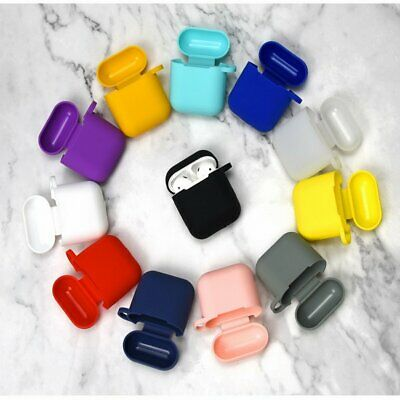 1PCS Silicone Earphone Case Cover for Airpods Charging Box with Hooks