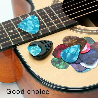 100x Guitar Picks Plectrums For Acoustic Ukulele Electric Guitar Bass With Case