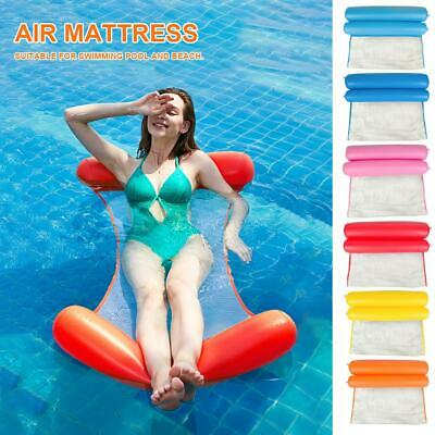Inflatable Floating Water Hammock Float Pool Lounge Bed Swimming Chair Beach