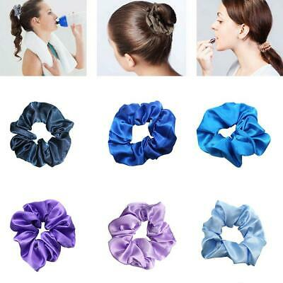 Women Silky Satin Hair Scrunchies Elastic Hair Bands Ponytail Hair Tie Rope Best