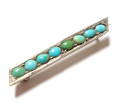Beautiful Antique Victorian Or Edwardian Turquoise Brooch