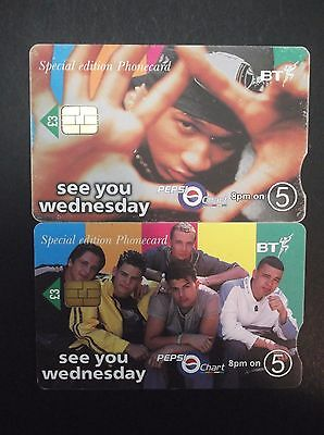 United Kingdom See You Wednesday By Pepsi Lot 2 Used Special Edition Phonecards