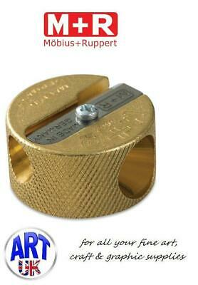 Mobius & Ruppert Professional Solid Brass Double Hole Round Pencil Sharpener
