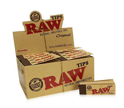 RAW Rolling Paper Smoking Chlorine Free Genuine Roach Roaches Book Filter Tips