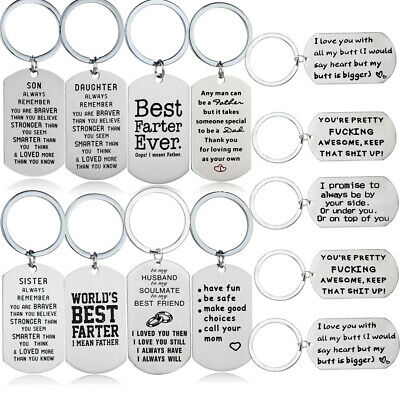 KeyRing Tag Keychain Gifts For Mom Dad Best Friends Love Husband Boyfriend Gifts