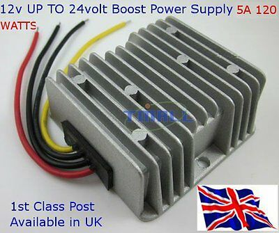 Step up Converter DC 12V to 24V 5A 120W Waterproof Boost Power Module 5A