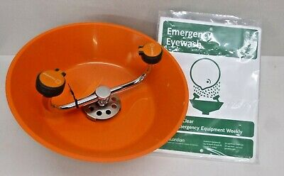 NEW! GUARDIAN EQUIPMENT Eyewash, Wall Mount, Push Handle, Assembled, ABS Plastic
