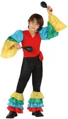 Boys Girls Spanish Rumba Dancer Around the World Fancy Dress Costume Outfit 3-12