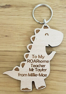 Personalised Thank You Gift For Teacher Gift Dinosaur End Of Term School Nursery